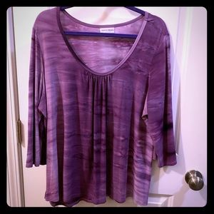 Shades of purple blouse